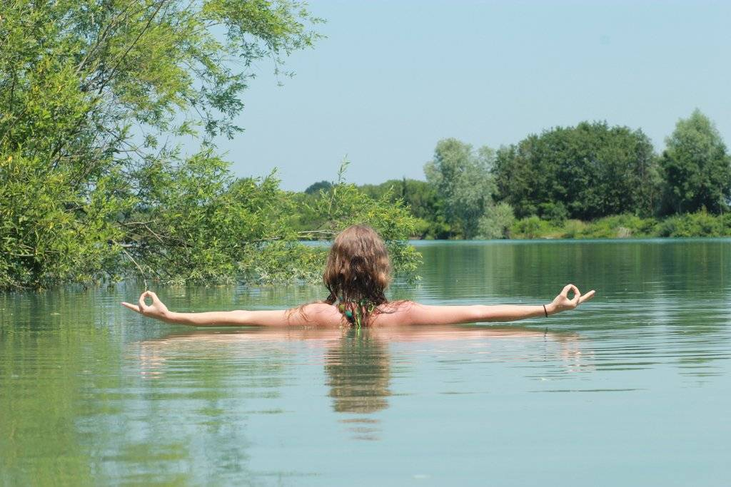 Yoga am Legelshurster Baggersee