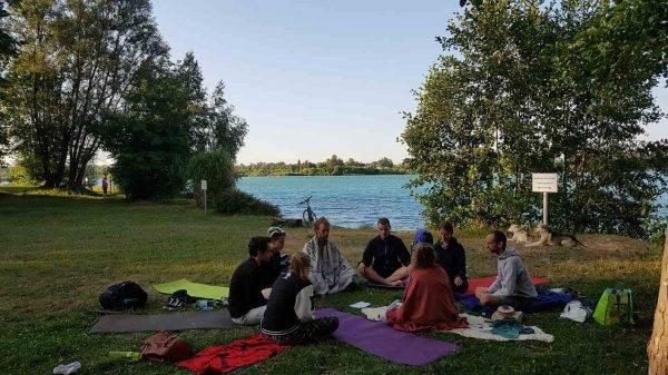 Yoga am Meißenheimer Baggersee