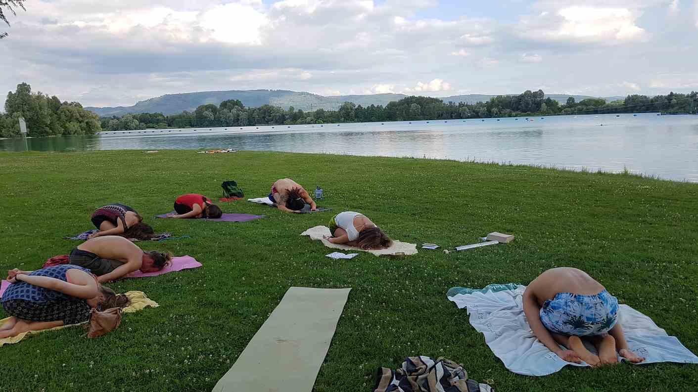 Yoga am Niederschopfheimer Baggersee